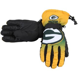 Forever Collectibles Green Bay Packers Gradient Big Logo Insulated Gloves (Small/Medium)