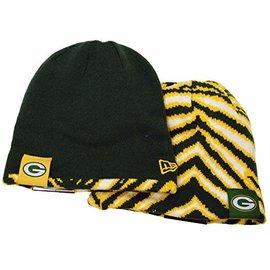 New Era Green Bay Packers Zubaz Flip Knit Beanie Hat