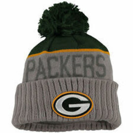 New Era Green Bay Packers  Gray Cuffed Knit Hat