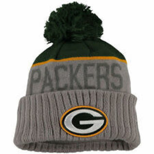 New Era Green Bay Packers  Gray Cuffed Knit Hat