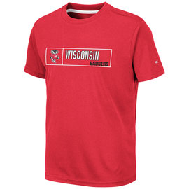 Colosseum Wisconsin Badgers Youth La Pampa Short Sleeve Tee