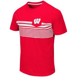 Colosseum Wisconsin Badgers Men's Futuna Short Sleeve Pocket Tee