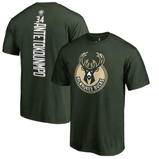 Milwaukee Bucks Men's Antetokounmpo Name and Number Short Sleeve Tee