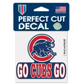WinCraft, Inc. Chicago Cubs Go Cubs Go 4x4 Perfect Cut Decal