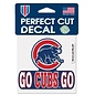 Chicago Cubs Go Cubs Go 4x4 Perfect Cut Decal