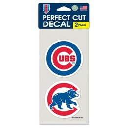 WinCraft, Inc. Chicago Cubs 2 Pack 4x4  Perfect Cut Decals