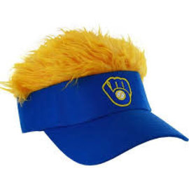 Milwaukee Brewers Flair Hair Visor