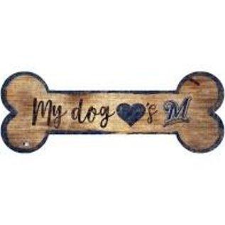 Milwaukee Brewers Wood Sign-Dog Bone
