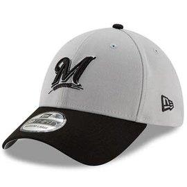 New Era Milwaukee Brewers 39-30 Gray Team Classic Hat