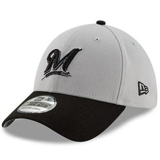 New Era Milwaukee Brewers 39-30 Gray Team Classic Hat