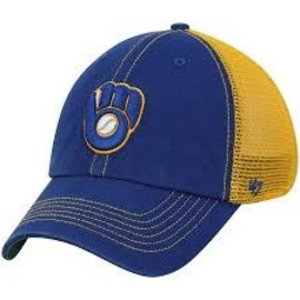 '47 Brand Milwaukee Brewers Trawler Clean Up Snapback Adjustable Hat