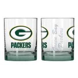 Green Bay Packers 14 Oz Elite Rocks Glass