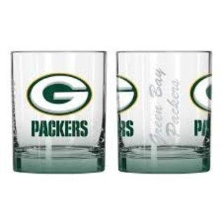 Green Bay Packers 14 Oz Elite Rocks Glass
