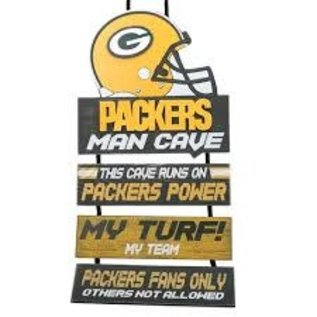 Forever Collectibles Green Bay Packers Wooden Man Cave Sign