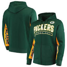 G III Green Bay Packers Men's Hands High Blowout Full Zip Hoodie