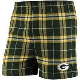 College Concepts LLC Green Bay Packers Men's Huddle Flannel Boxer