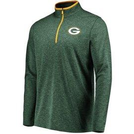 Majestic Green Bay Packers Men's Grid Tex 1/2 Zip