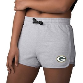 Green Bay Packers Women's Gray Running Shorts