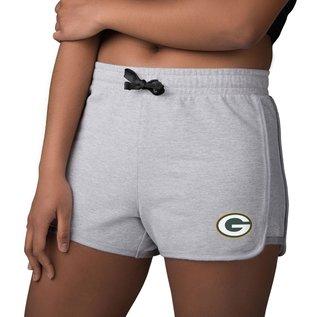 Green Bay Packers Women's Gray Running Shorts