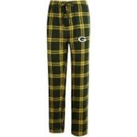 College Concepts LLC Green Bay Packers Men's Huddle Flannel Pants
