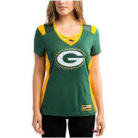 Green Bay Packers Women's Draft Me Green Silky Short Sleeve Tee