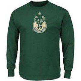 Majestic Milwaukee Bucks Men's Primary Logo Long Sleeved Tee