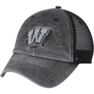 Wisconsin Badgers Men's Ploom Charcoal Mesh Back Adjustable Hat