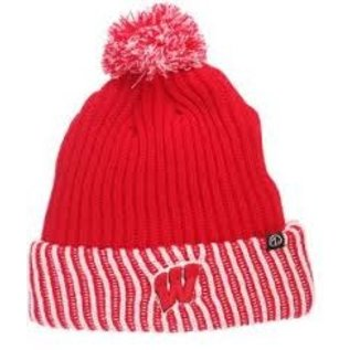 Wisconsin Badgers Frigid Cuffed Knit with Pom