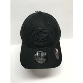Green Bay Packers 9-20 Black Core Classic Tonal Adjustable Hat