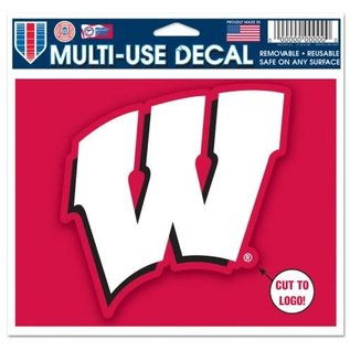 Wisconsin Badgers 4.5x5.75 Multi Use Cut To Logo Decal