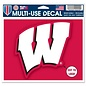 WinCraft, Inc. Wisconsin Badgers 4.5x5.75 Multi Use Cut To Logo Decal