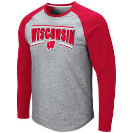 Colosseum Wisconsin Badgers Men's Kang Long Sleeve Tee