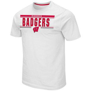 Colosseum Wisconsin Badgers Men's Moe's Short Sleeve Tee