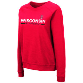 Colosseum Wisconsin Badgers Women's Magda Crewneck Sweatshirt