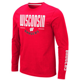 Colosseum Wisconsin Badgers Men's Streetcar Long Sleeve Tee