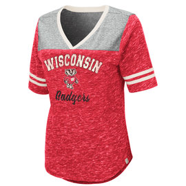 Wisconsin Badgers Women's Mr. Big V Neck Short Sleeve Tee