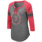 Colosseum Wisconsin Badgers Women's Carrie Lace Up 3/4 Sleeve Tee