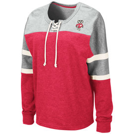 Wisconsin Badgers Women's Mando Lace Up Pullover Long Sleeve Tee