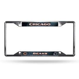 Chicago Bears EZ View Chrome License Frame