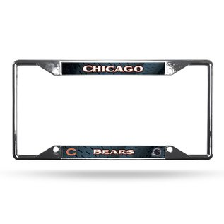 Rico Industries, Inc. Chicago Bears EZ View Chrome License Frame