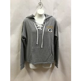 Green Bay Packers Women's Lace Up Pullover Hoodie