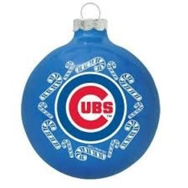 Chicago Cubs Round Ball Ornament
