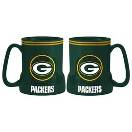Green Bay Packers All Green Gametime Sculpted Mug