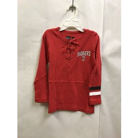 Wisconsin Badgers Youth Girls Lace Up Long Sleeve Tee