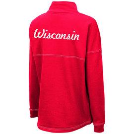 Wisconsin Badgers Women's Glitterati 1/2 Zip Pullover