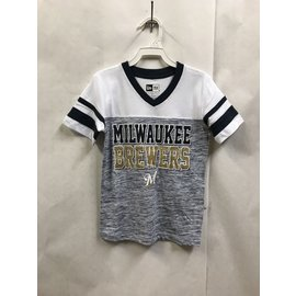 Milwaukee Brewers Youth Girls Space Dye Jersey Short Sleeve Tee