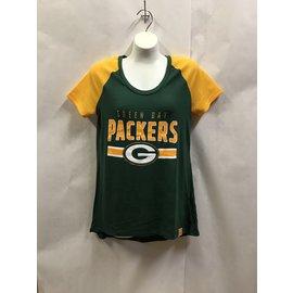 Green Bay Packers Women's Shining Victory Raglan Short Sleeve Tee