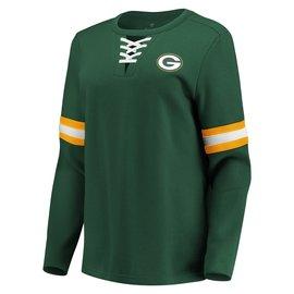 Fanatics Green Bay Packers Women's Lead Draft Lace Up Long Sleeve Fleece