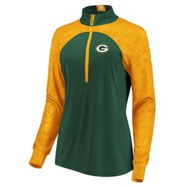 Fanatics Green Bay Packers Women's Rookie Sensation 1/2 Zip