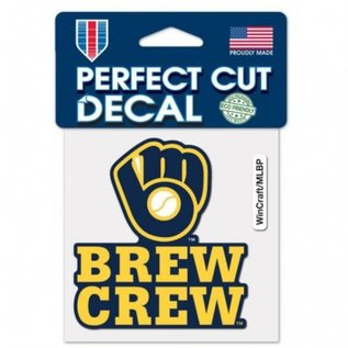 WinCraft, Inc. Milwaukee Brewers Brew Crew 4x4 Perfect Cut Decal